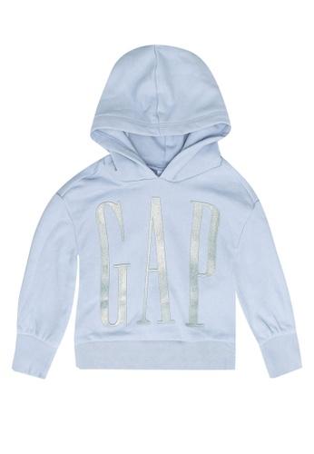 GAP blue Intl Logo Pop Hoodie 87B8FKAAE67B8CGS_1