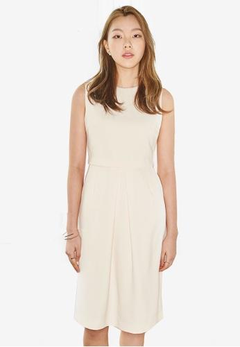 NAIN beige Sleeveless Pencil Dress DBF96AAACB12B0GS_1