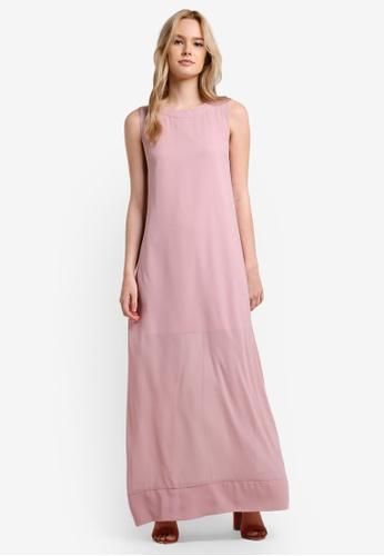 Something Borrowed pink Sleeveless Sheer Maxi 6925DAA6275588GS_1