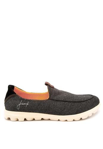 Jump black Elliot Slip On Sneakers JU701SH33SASPH_1