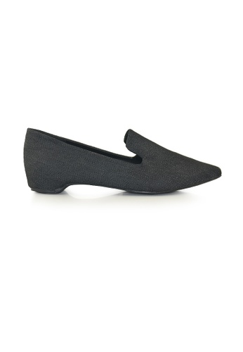 SHINE black Point Toe loafers With Hidden Heels SH554SH0G1RLSG_1