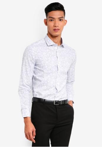781856fe97f266 Buy G2000 Outline Floral Print Long Sleeve Shirt Online on ZALORA ...