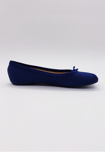 HERME MONY blue Japanese Two-Finger Style Flat Shoes 41662SHB9FA0E1GS_1