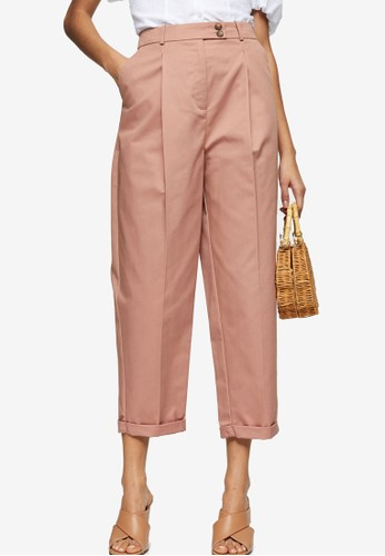TOPSHOP pink Ovoid Chino Peg Trousers 55DBFAAA2D092FGS_1