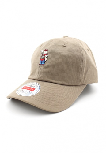 DOSSCAPS beige PREMIER Smoke Bear Baseball Cap (Khaki) 5A7FBACAA3BC12GS_1