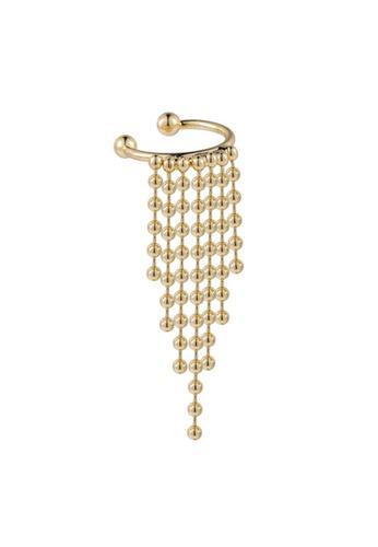 YOUNIQ gold YOUNIQ Basic Korean Little Gold Tassel Clip On Earrings for No Ear Hole Non Piercing 30B46AC231C2D5GS_1
