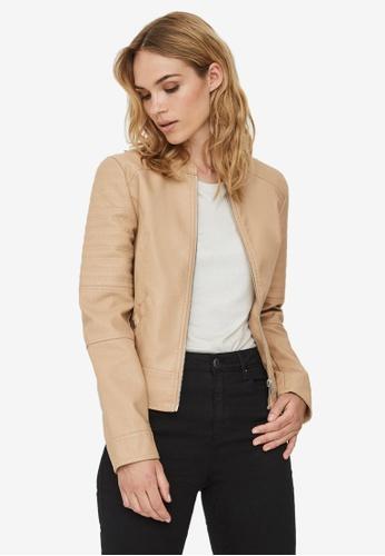 Vero Moda beige Love Short Coated Jacket 60F05AAFE31A7DGS_1