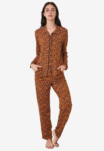 Trendyol multi Printed Shirt Pajamas Set D9748AA175FE88GS_1