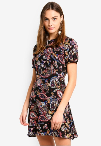 WAREHOUSE multi Paisley Flippy Dress 4634CAAA7B7363GS_1
