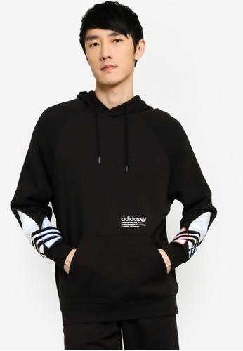 ADIDAS black tricolor trefoil hoodie 1B16EAA0CFA579GS_1