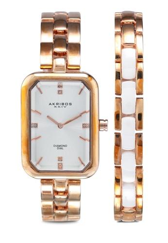 Akribos XXIV 粉紅色 鏈帶手錶 A1584AC5EE7A10GS_1