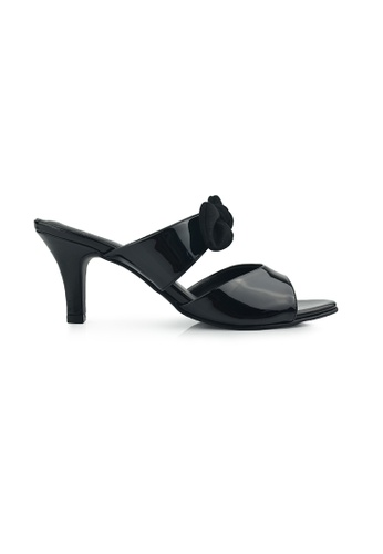 SHINE black Slip On Ribbon Heels SH554SH0FVEFSG_1