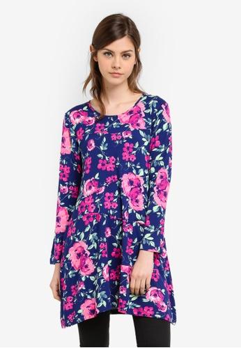 Aqeela Muslimah Wear blue Basic Top AQ371AA0S4W5MY_1