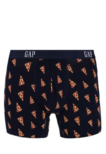 """GAP navy 5 Logo Print Boxer Briefs"""" 6A1E8US2D50767GS_1"""
