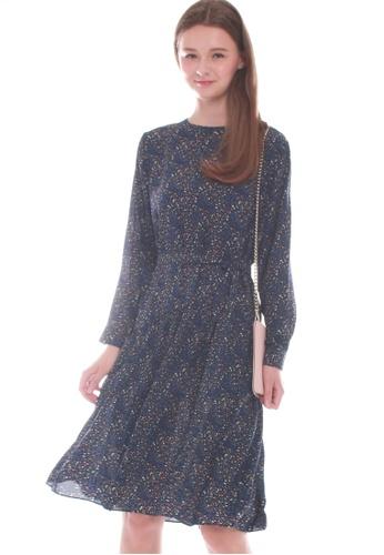 JOVET blue and multi Floral Midi Dress 8F4F4AA69A6B7FGS_1