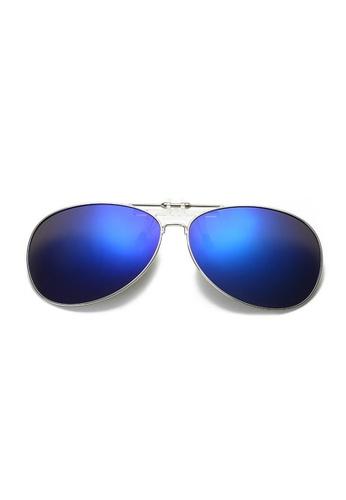 A FRENZ blue Aviator Full Rim Polarized UV400 Flip-Up Clip On Sunglasses 990D2GL8C8E40DGS_1