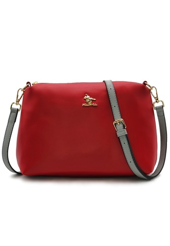 Polo Hill red Polo Hill Two Toned Sling Bag 7276CAC16A994FGS_1