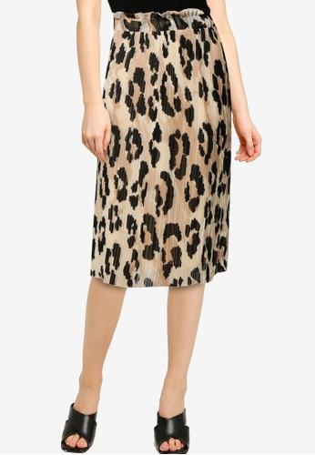 Vero Moda beige Greeta High Waist Pleat Skirt AB46AAA028C681GS_1