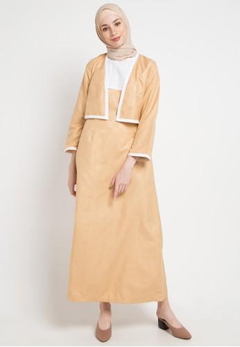 Aira Muslim Butik multi and gold Videlina Dress CA4C3AACE038A4GS_1