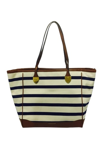 d44b77998d5 Shop Club West Lauren Ralph Lauren Striped Leather-trim Online on ...