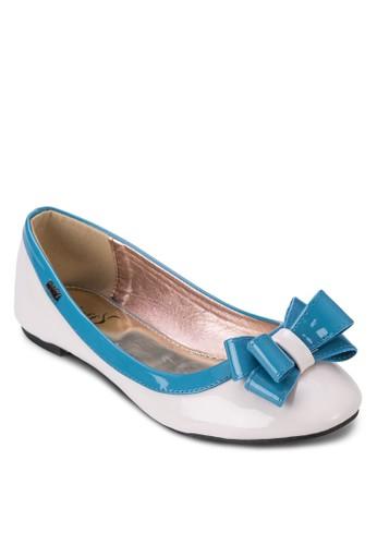 拼色蝴蝶結esprit taiwan休閒平底鞋, 女鞋, 芭蕾平底鞋