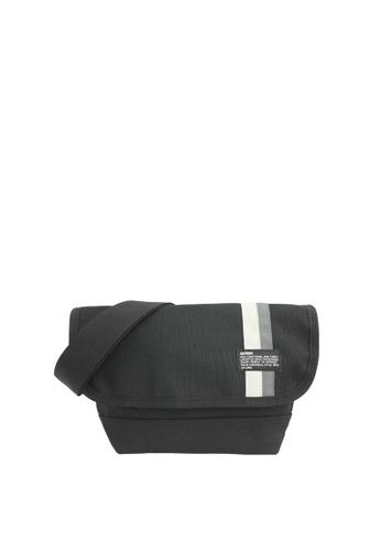 OPTIONS black and white Panel Messenger Bag DA095ACC41083CGS_1