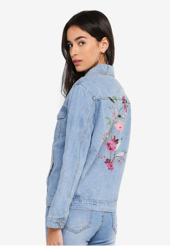 ZALORA blue Printed Trucker Jacket 5FC24AA66A0056GS_1