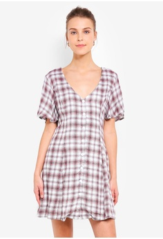 a7627736f3 Glamorous white and pink White Pink Checkered Dress A2255AAD5A7C1BGS_1