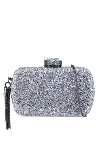 Dorothy Perkins Silver Glitter Box Clutch 9dbb0ac283f39ags 1