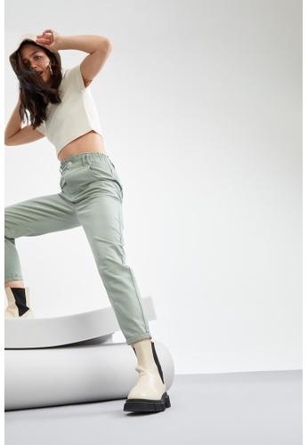 DeFacto grey Short Sleeve Round Neck Crop T-Shirt 8DF03AAE835479GS_1