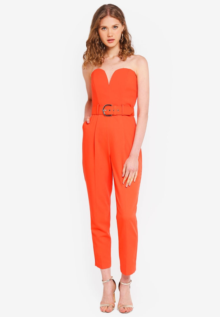 Red Miss Red Belted Selfridge Jumpsuit K Band wzqBPxz4Y