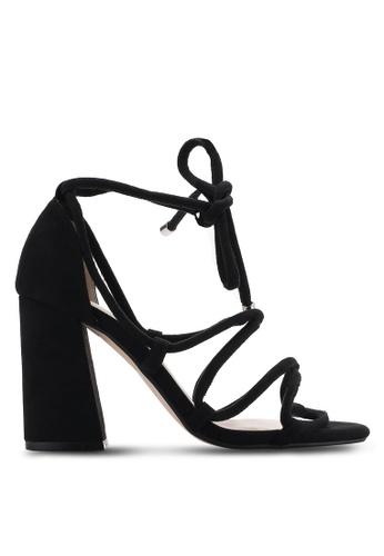ZALORA black Strappy Lace Up Heels F9310SHBD9514CGS_1