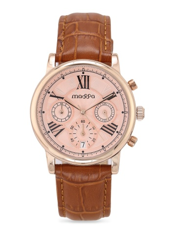 Massa Collections red Ingenious Rose (Light Brown) Ladies Chronograph Leather Watch 44873AC4655992GS_1