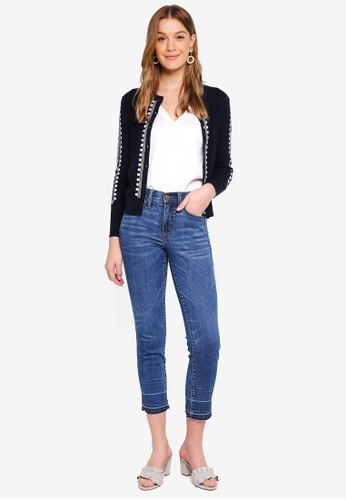 J.Crew navy Isabel Embroidered Jackie Cardigan 9F01CAA763DF69GS_1
