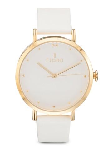 DOTTA 三指針皮革esprit 香港 outlet圓錶, 錶類, 飾品配件