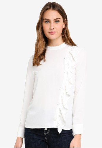 ESPRIT white Woven Long Sleeve Blouse DF250AAC13A388GS_1