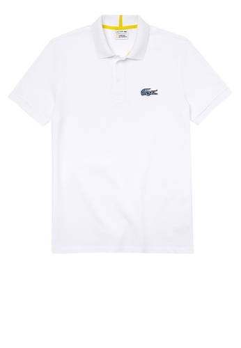 Lacoste white Men's Lacoste x National Geographic Organic Cotton Pique Polo Shirt D8C75AA0F509ABGS_1