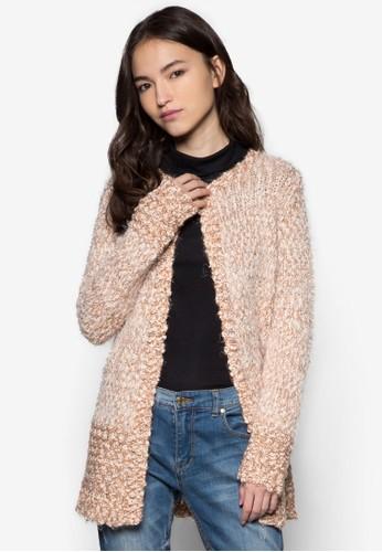 單鈕esprit outlet hong kong扣針織長版外套, 服飾, 毛衣& 針織外套