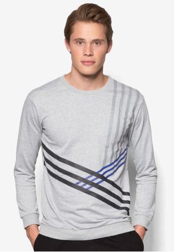 塗面條紋運動長袖衫, 服飾, 外京站 esprit套