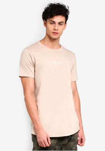 Cotton On multi and beige Longline Scoop Hem Tee 07963AA2E90823GS_1