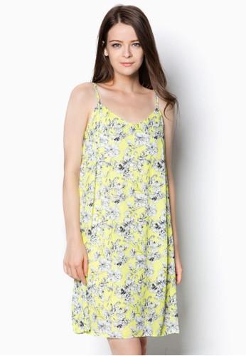 碎花細肩帶雪紡連zalora 衣服評價身裙, 服飾, 洋裝