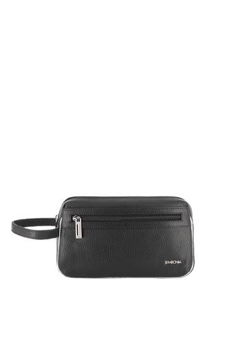 SEMBONIA black SEMBONIA Men Genuine Leather Clutch Bag (Black) SE598AC0S84VMY_1