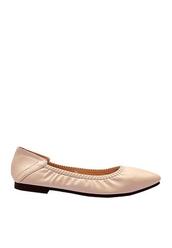 Twenty Eight Shoes 米褐色 舒適尖頭豆豆鞋 VF902122 8989BSHC3B4AB0GS_1