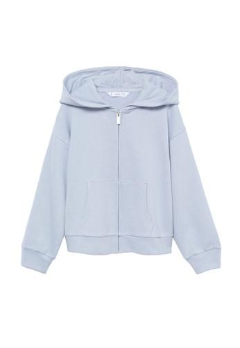 MANGO KIDS blue Hoodie Cotton Sweatshirt 85E0DKA87BE1B9GS_1