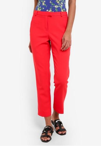 Miss Selfridge red Stella Cigarette Trousers MI665AA0RSUCMY_1