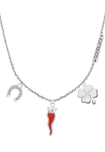 Morellato silver Enjoy Necklace SAIY01 Steel Crystals 08C8DACFB951DBGS_1