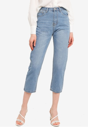 ZALORA blue Mom Fit Jeans 83CFDAABF45480GS_1