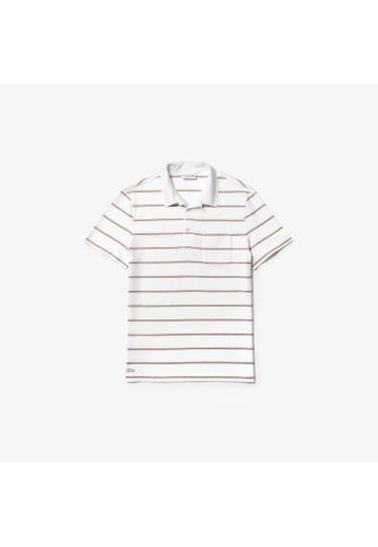 08ea26e1 Lacoste navy Men's Lacoste Regular Fit Lightweight Striped Cotton Polo Shirt  - DH4281-10 9962BAAC9A4DD2GS_1