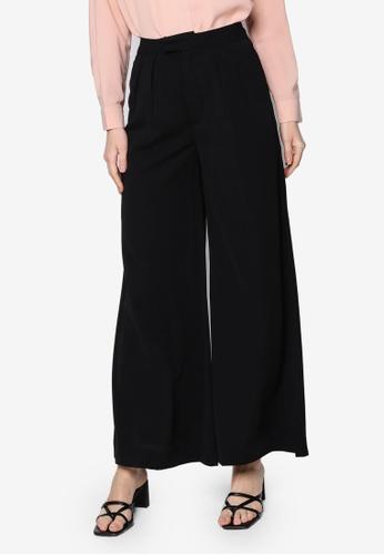 ZALIA BASICS black Wide Leg Trousers C2E59AA6192E10GS_1