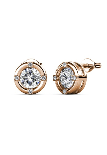 Her Jewellery gold Justine Earrings (Rose Gold) - Made with premium grade crystals from Austria A5136ACB736452GS_1
